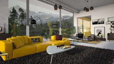 Idée déco d'intérieur : installez un tapis dans votre séjour