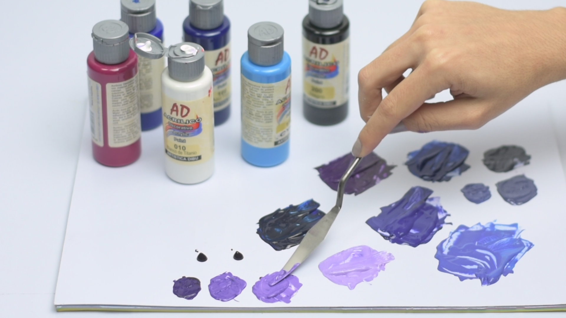 peinture violette